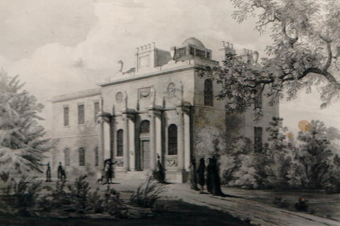 Pitzhanger Manor, an old painting