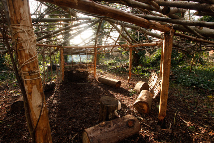 Celtic roundhouse at Litten Reserve
