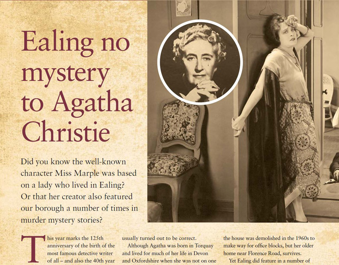 Agatha Christie's links to Ealing