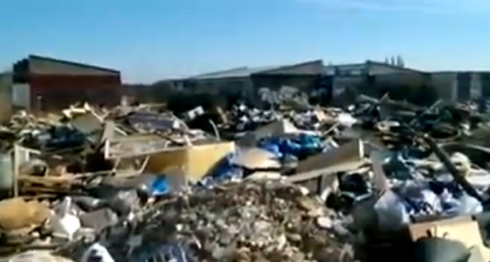 Illegally dumped rubbish at Warren Farm
