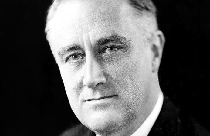 US President Franklin Roosevelt, 1933