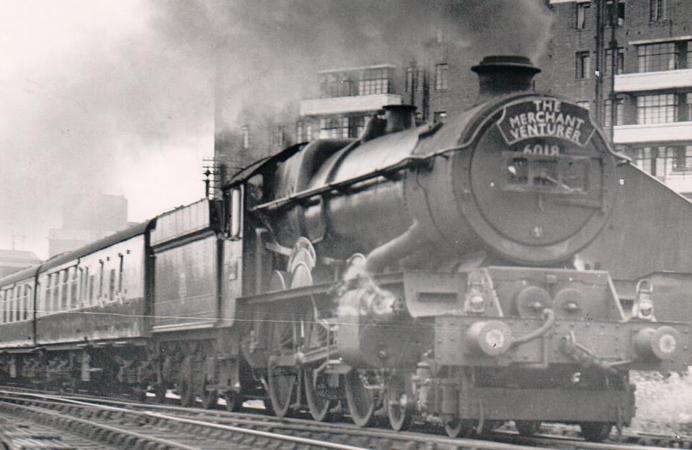 Train at Acton Main Line station