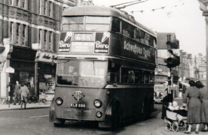 Trolleybus in action