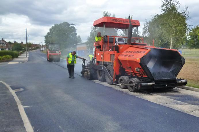 Repairing a road