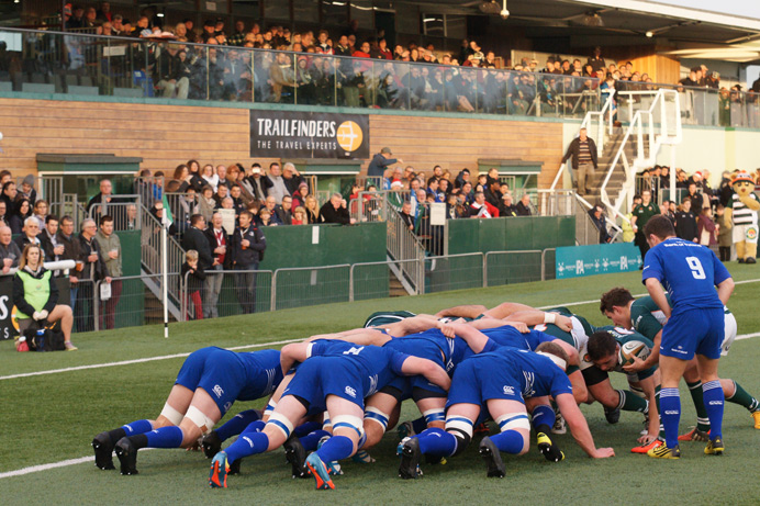 Ealing Trailfinders Rugby Club in action