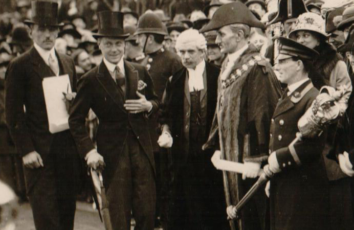 King Edward during a visit to Acton while he was still Prince of Wales