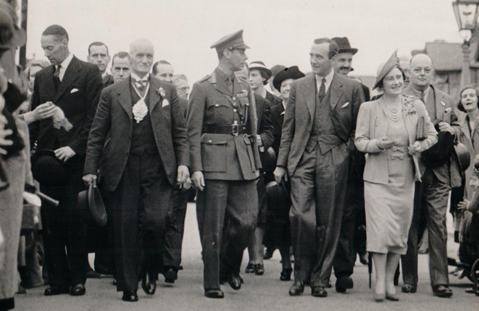 King George during a visit to Perivale