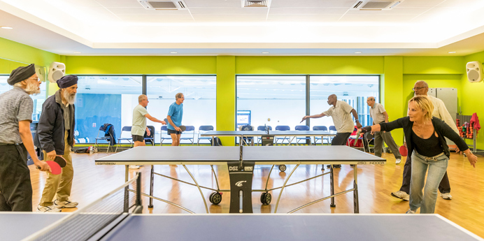 Over 50 table tennis club at Northolt Leisure Centre
