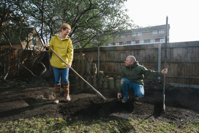 Planting at Katherine Buchan Meadow, Hanwell