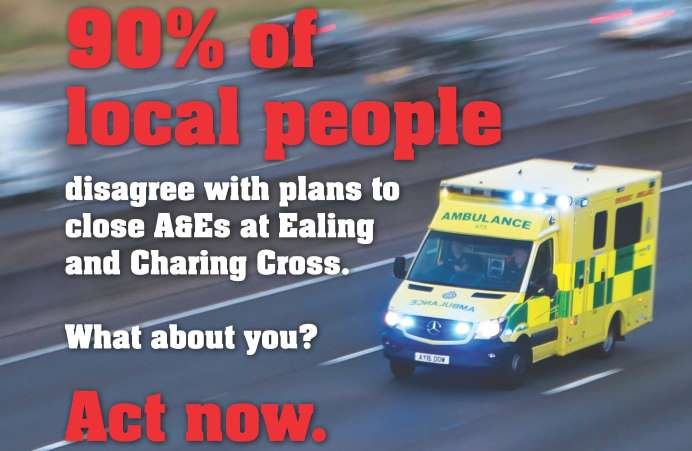 90% of local people disagree with plans to close A&Es