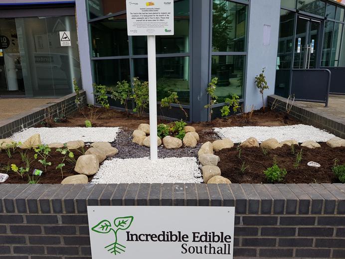 Southall edible garden opening October 2017