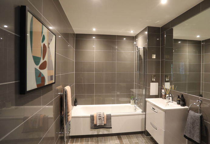 Bathroom at Alton Court, Copley, Hanwell
