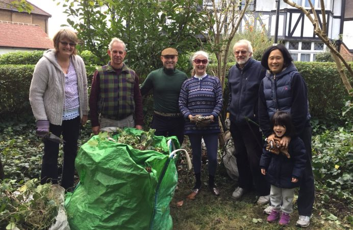 West Acton residents community gardening group, which is overseeing the creation of the Cherry Tree Walk