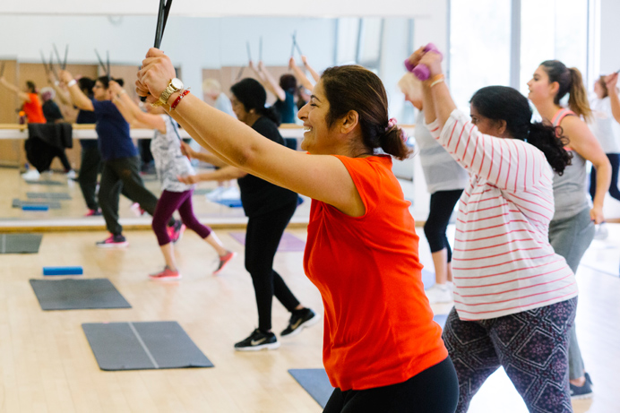 A class at Gurnell Leisure Centre