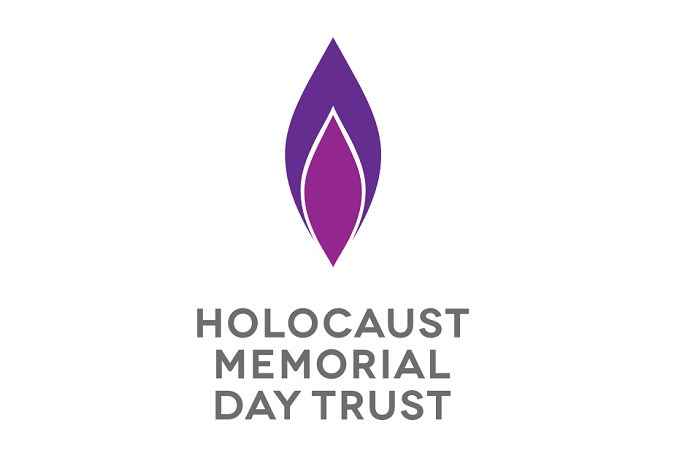 Holocaust Memorial Day Trust logo purple flame