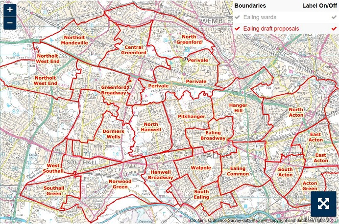 Proposed boundary changes map