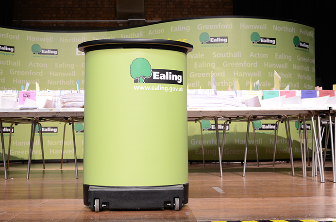European parliamentary elections 2019 - count at Greenford Hall