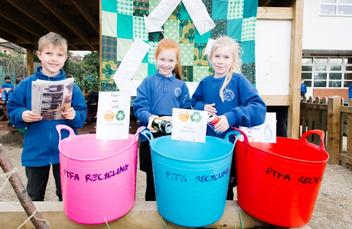 Pupils at Fielding Primary, West Ealing leading the way in recycling