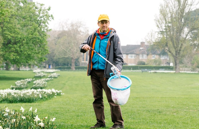 Keith Freegard, founder member of Litter Action Group Ealing Residents (LAGER CAN)
