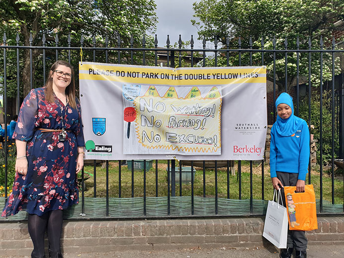 Road safety banner competiton, Hambrough Primary School