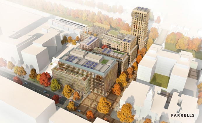 Proposal for the Perceval House site - with council offices at the front