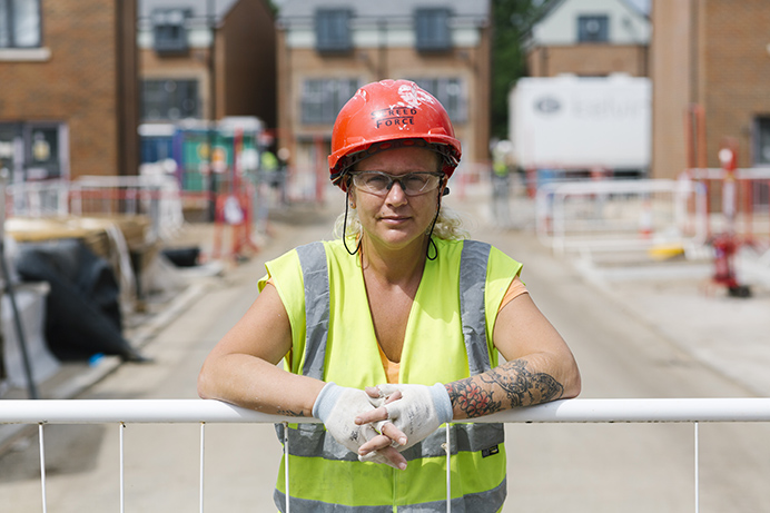 Construction apprentice Sam Smith works at the Havelock Estate