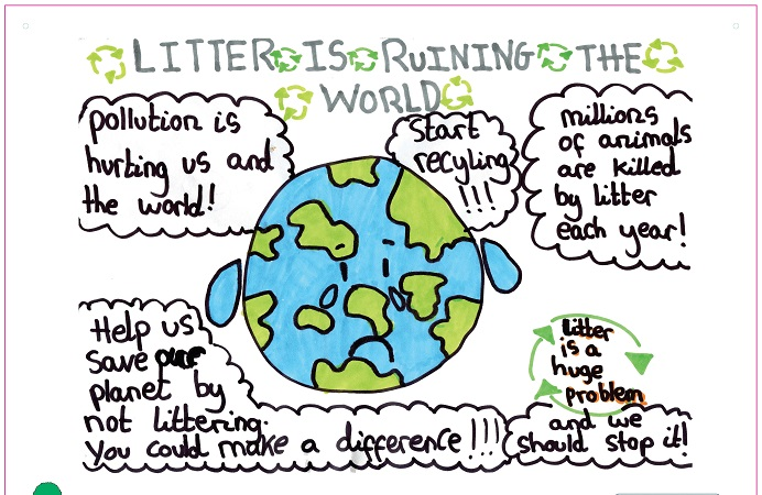 Great British Spring Clean inspires young artists