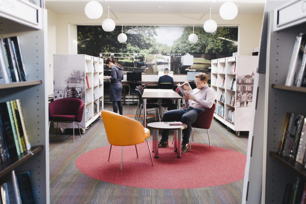 A quiet space inside Hanwell Library