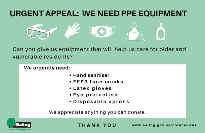 Urgent appeal for PPE equipment