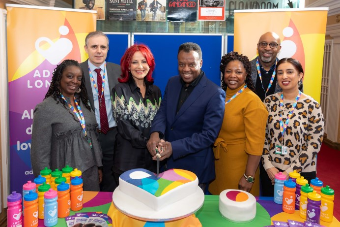Celebrity couple Carrie and David Grant helped to officially announce Adopt London at the Assembly Halls, Islington.
