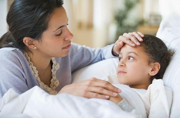 Parent and sick child
