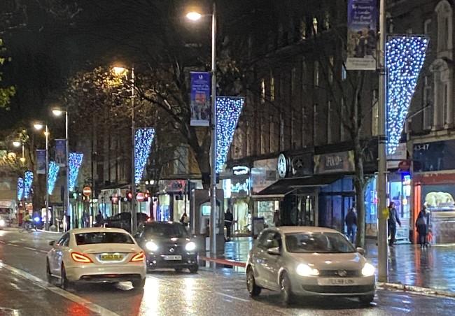 Christmas lights on Ealing Broadway