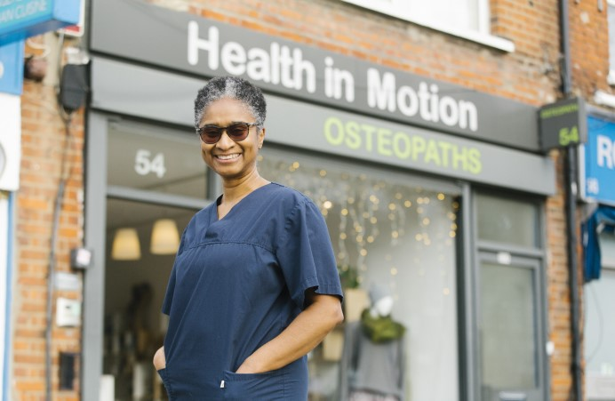 Person standing outside Osteopath