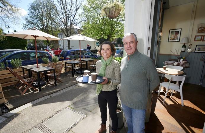 Martin and Marco at Tiramisu Cafe