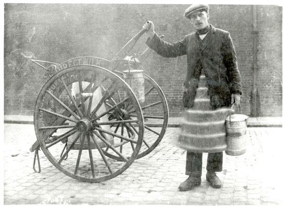 Milk cart in 1920s London