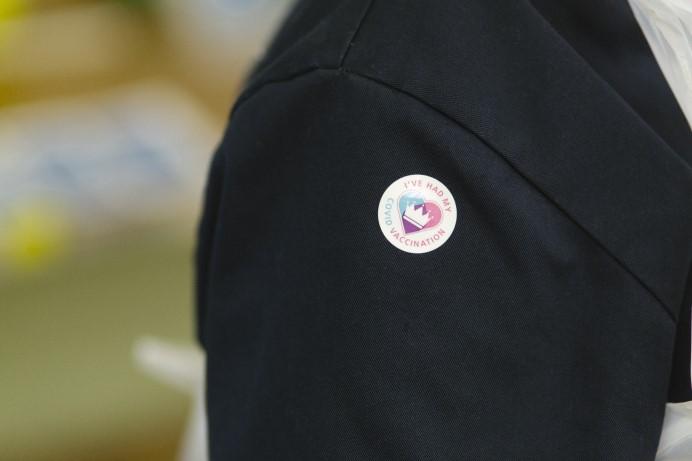 COVID-19 vaccination sticker