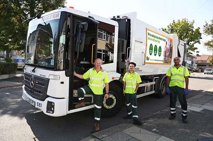 Greener Ealing recycling truck