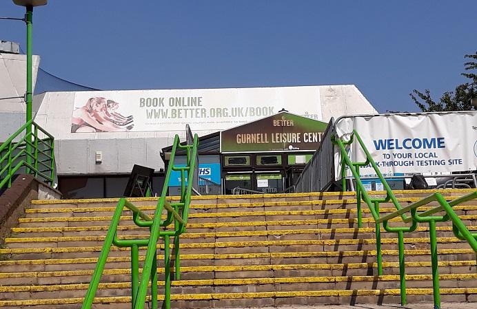 Gurnell Leisure Centre - front steps