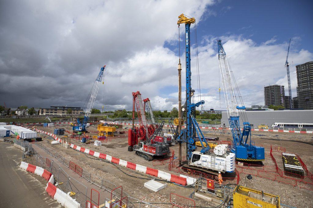 Construction site for HS2