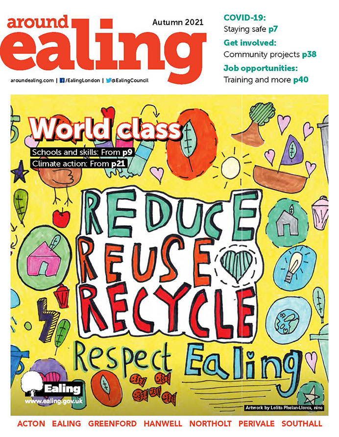 Front cover of Around Ealing magazine - autumn 2021 edition