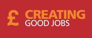 A pound sign, next to the words: Creating Good Jobs