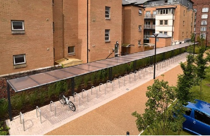 An idea of what the cycle hub will look like