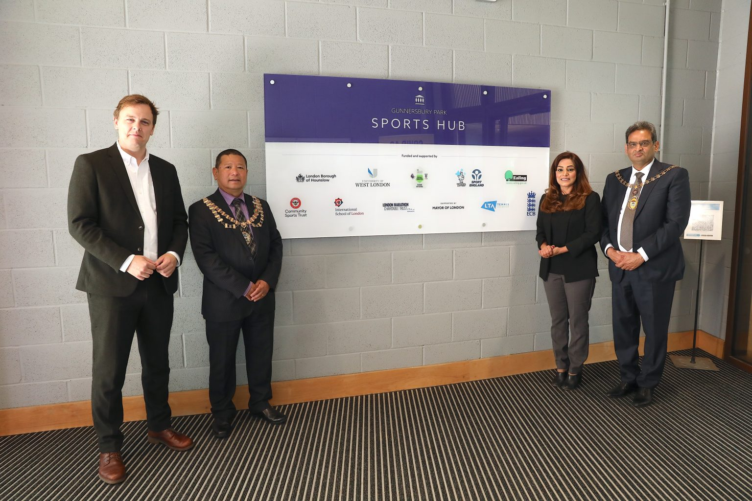 Councillors from Ealing and Hounslow at the Gunnersbury Park Sports Hub launch