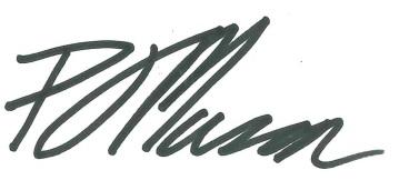 Councillor Peter Mason signature