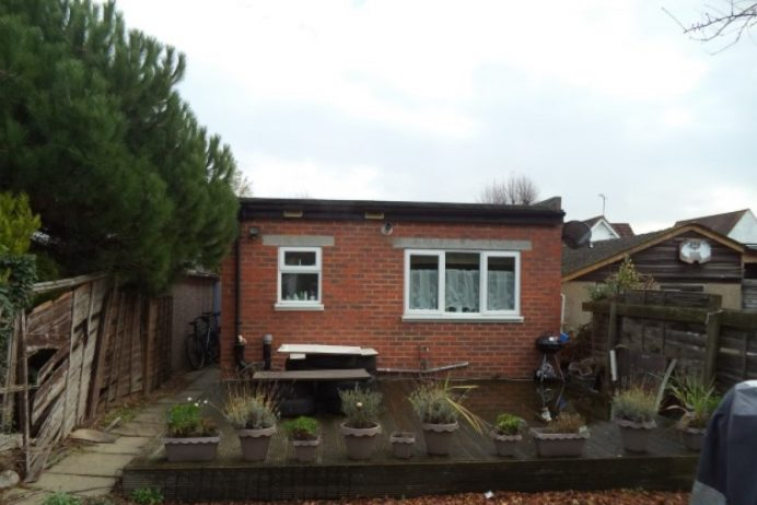 Outbuilding in rear garden at Greenford property