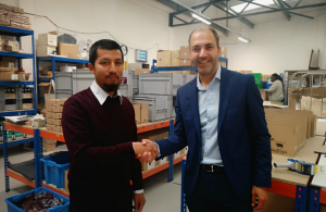 Mohammad and Cllr Mahfouz shaking hands